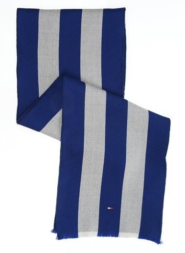 Tommy Hilfiger Erkek Sprıng College Scarf Atkı AM0AM03032 Mavi